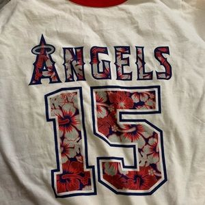 MLB Shirts - Los Angeles Anaheim Angels Tropical Shirt